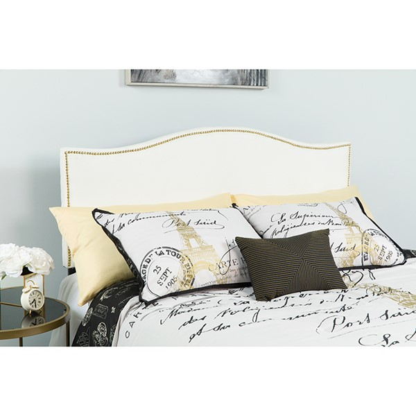 Flash Furniture Lexington White Queen Headboard FLF-HG-HB1707-Q-W-GG