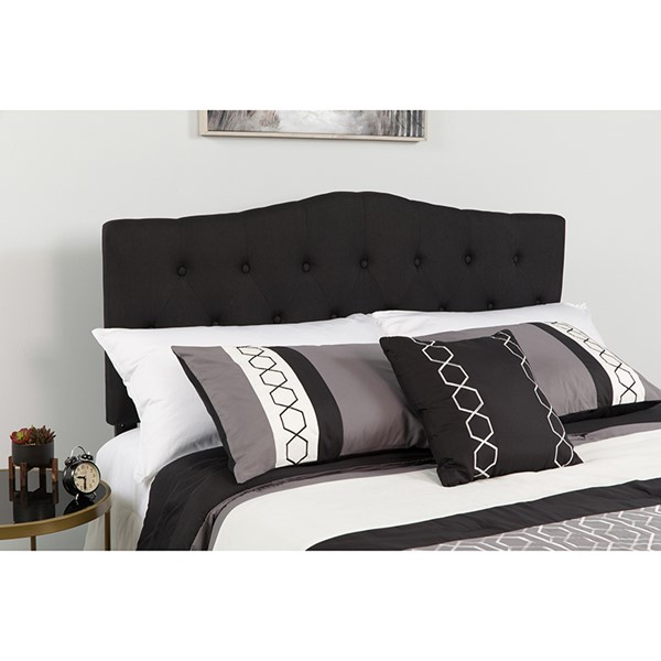 Flash Furniture Cambridge Black Queen Headboard FLF-HG-HB1708-Q-BK-GG