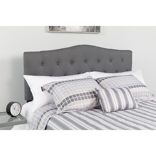 Flash Furniture Cambridge Dark Gray Queen Headboard FLF-HG-HB1708-Q-DG-GG