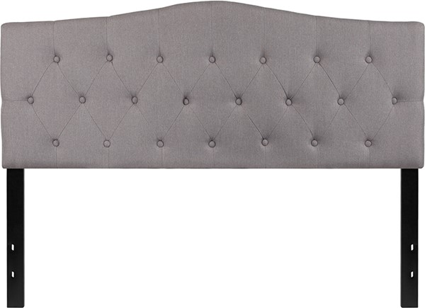 Flash Furniture Cambridge Light Gray Queen Headboard FLF-HG-HB1708-Q-LG-GG