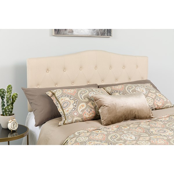 Flash Furniture Cambridge Beige Twin Headboard FLF-HG-HB1708-T-B-GG
