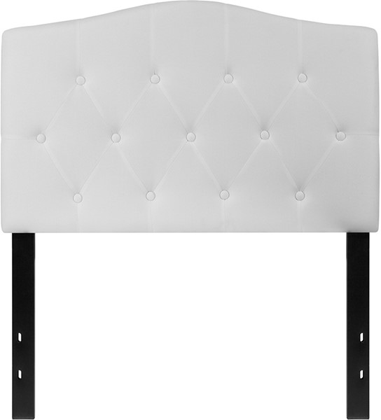 Flash Furniture Cambridge White Twin Headboard FLF-HG-HB1708-T-W-GG