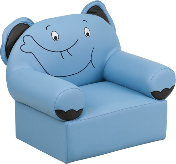 Blue Plastic Vinyl Kids Elephant Chair FLF-HR-16-GG