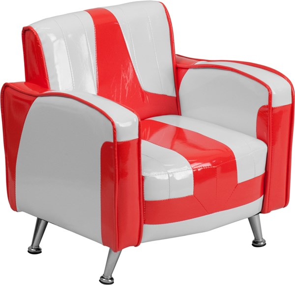 Kids Red and White Chair FLF-HR-36-GG