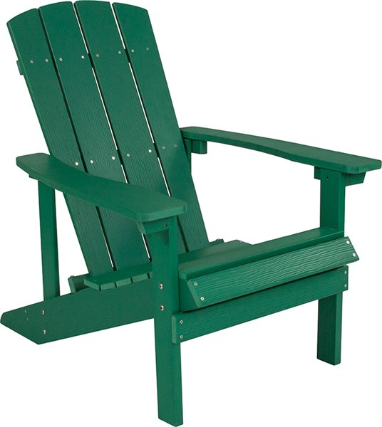 Flash Furniture Charlestown Green Wood Adirondack Chair FLF-JJ-C14501-GRN-GG
