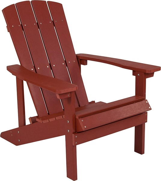Flash Furniture Charlestown Red Wood Adirondack Chair FLF-JJ-C14501-RED-GG