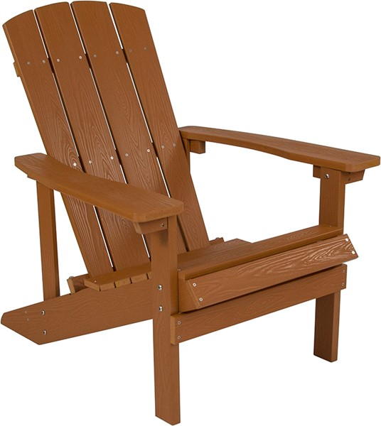 Flash Furniture Charlestown Teak Wood Adirondack Chair FLF-JJ-C14501-TEAK-GG