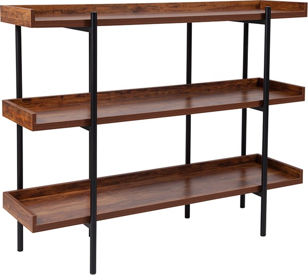 Flash Furniture Mayfair Rustic Storage Shelf FLF-JN-2542B3-GG