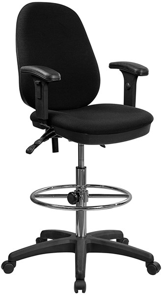 Multi-Functional Triple Paddle Drafting Stool w/Foot Ring & Arms FLF-KC-B802M1KG-ARMS-GG