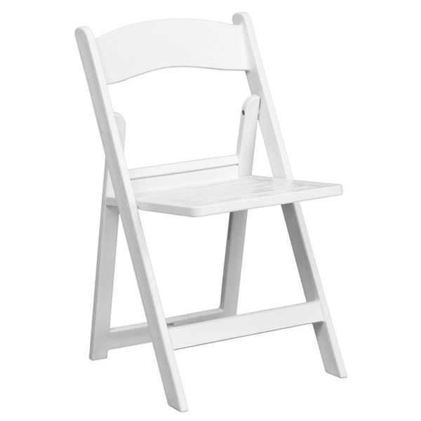 Flash Furniture Hercules White Resin Folding Chairs FLF-LE-L-1-WH-SLAT-GG