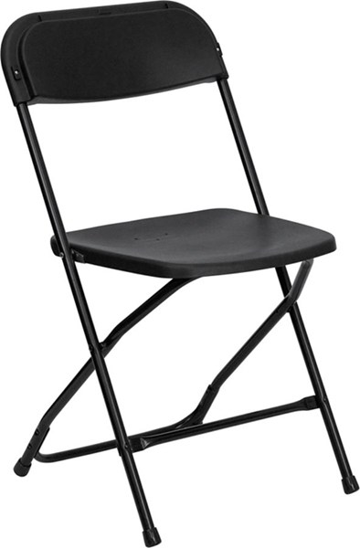 Flash Furniture Hercules Black Brown Folding Armless Chairs FLF-LE-L-3-GG-VAR