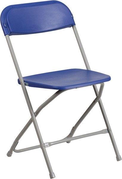 Flash Furniture Hercules Premium Blue Plastic Folding Chair FLF-LE-L-3-BLUE-GG