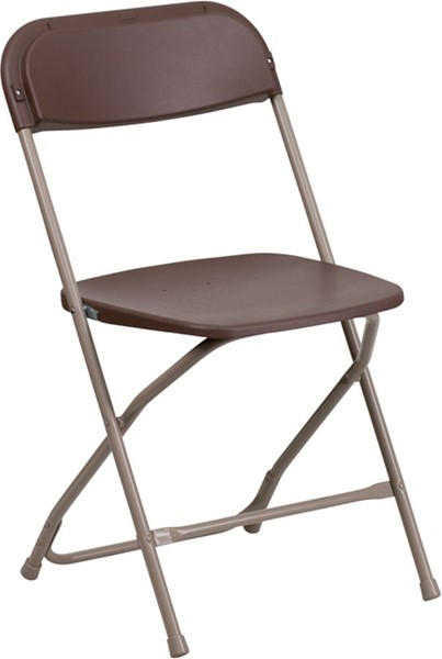Flash Furniture Hercules Brown Premium Folding Chair FLF-LE-L-3-BROWN-GG