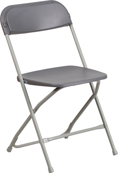 Flash Furniture Hercules Premium Grey Plastic Folding Chair FLF-LE-L-3-GREY-GG