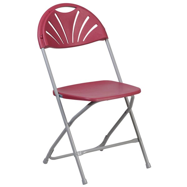Flash Furniture Hercules Capacity Burgundy Fan Back Metal Folding Chair FLF-LE-L-4-BUR-GG