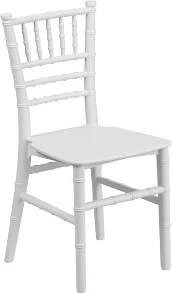 White Resin Armless & Ladder Back Kids Chair FLF-LE-L-7K-WH-GG