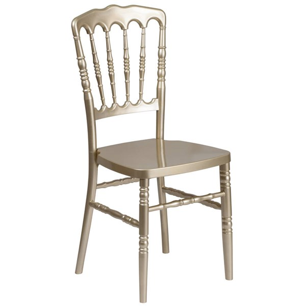 Flash Furniture Hercules Gold Resin Stacking Napoleon Chair FLF-LE-L-MON-GD-GG