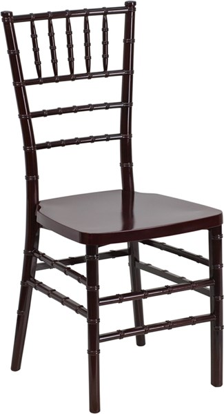 Hercules Premium Series Mahogany Resin Stacking Chiavari Chair FLF-LE-MAHOGANY-GG