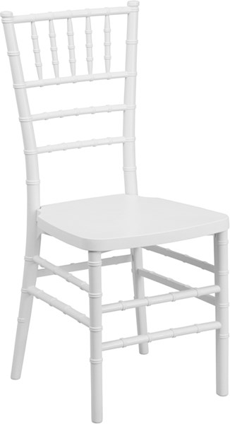 Hercules Premium Series White Resin Stacking Chiavari Chair FLF-LE-WHITE-GG
