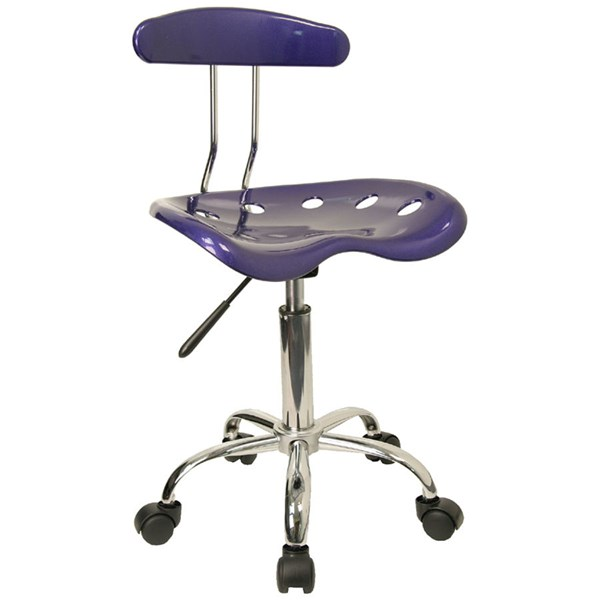 Flash Furniture Vibrant Deep Blue Chrome Computer Task Chair FLF-LF-214-DEEPBLUE-GG