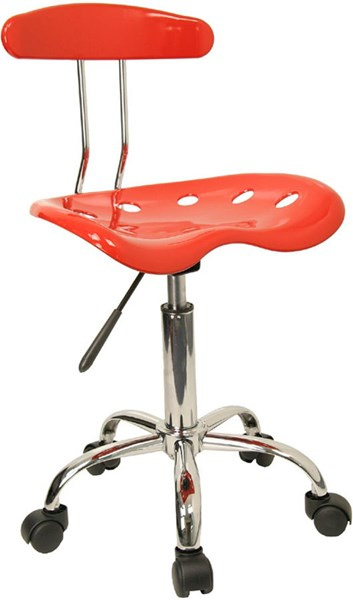 Flash Furniture Vibrant Red Chrome Computer Task Chair FLF-LF-214-RED-GG