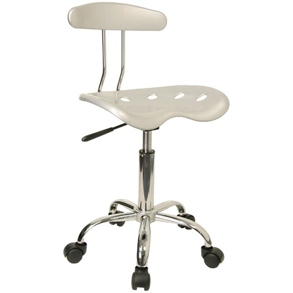 Flash Furniture Vibrant Silver Chrome Computer Task Chair FLF-LF-214-SILVER-GG