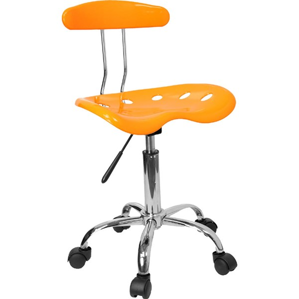 Flash Furniture Vibrant Yellow Chrome Computer Task Chair FLF-LF-214-YELLOW-GG
