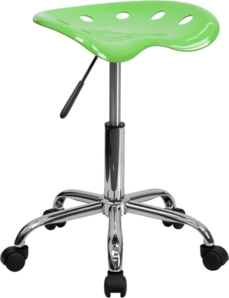 Flash Furniture Vibrant Tractor Seat and Chrome Stools FLF-LF-214A-GG-VAR