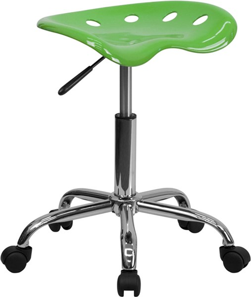 Flash Furniture Vibrant Spicy Lime Tractor Seat and Chrome Stool FLF-LF-214A-SPICYLIME-GG