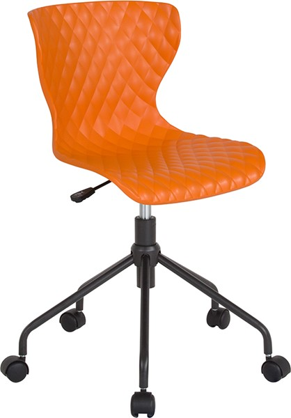 Flash Furniture Brockton Orange Plastic Task Chair FLF-LF-7-07A-ORNG-GG