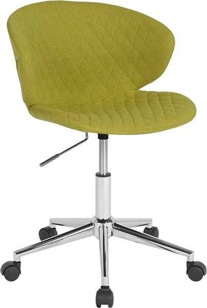 Flash Furniture Cambridge Citrus Green Fabric Low Back Chair FLF-LF-9-17-GRN-F-GG