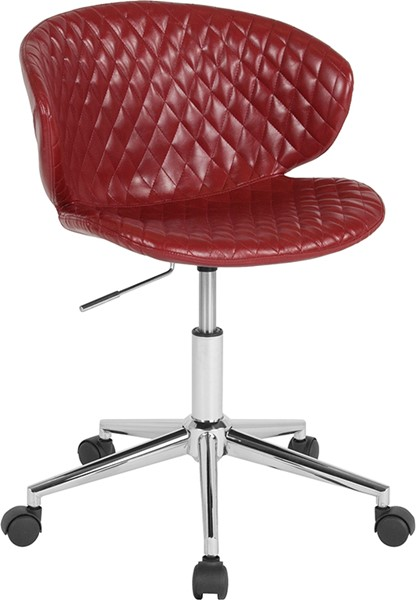 Flash Furniture Cambridge Red Vinyl Low Back Chair FLF-LF-9-17-RED-GG