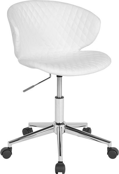 Flash Furniture Cambridge White Vinyl Low Back Chair FLF-LF-9-17-WH-GG
