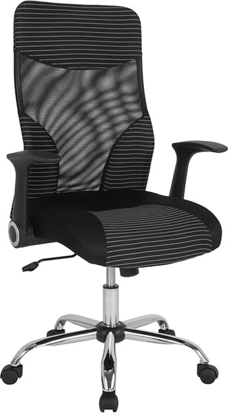 Flash Furniture Milford Black White High Back Mesh Chair FLF-LF-W-83A-GG