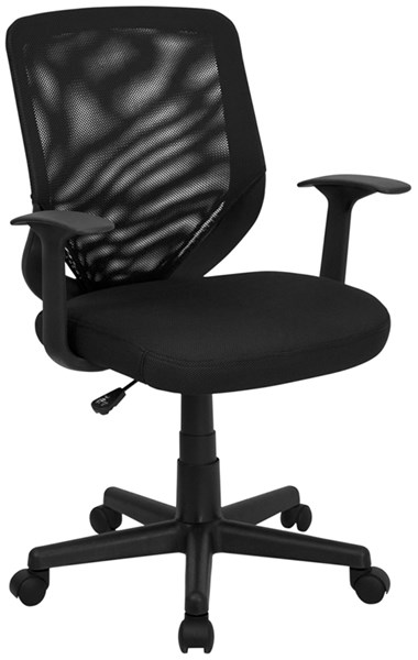 Flash Furniture Black Mesh Fabric Mid Back Office Chair FLF-LF-W-95A-BK-GG