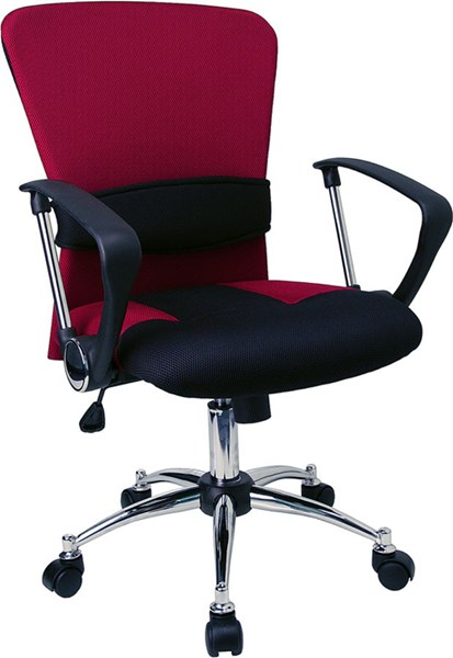 Flash Furniture Black Red Mid Back Mesh Office Chair FLF-LF-W23-RED-GG