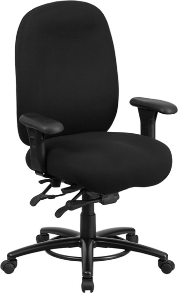 Flash Furniture Hercules Black Fabric Swivel Chair FLF-LQ-1-BK-GG