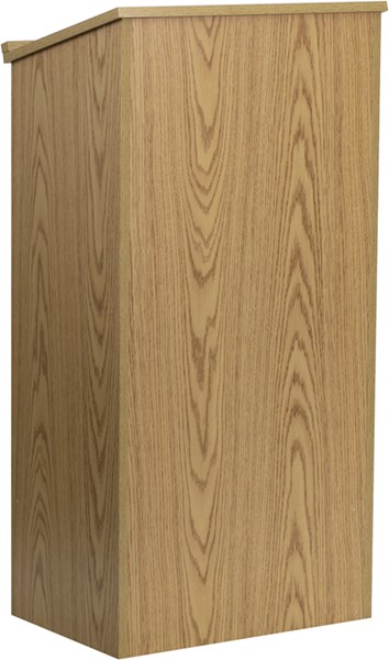Flash Furniture Oak Stand-Up Lectern FLF-MT-M8830-LECT-OAK-GG