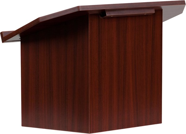 Flash Furniture Foldable Mahogany Tabletop Lectern FLF-MT-M8833-LECT-GG