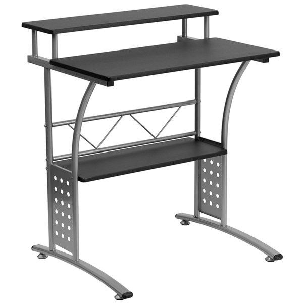 Black White Metal Rectangle Clifton Computer Desks FLF-NAN-CLIFTON-GG-VAR