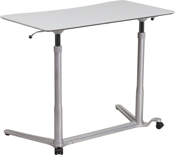 Flash Furniture Light Gray Sit Stand Desk FLF-NAN-IP-6-1-GG
