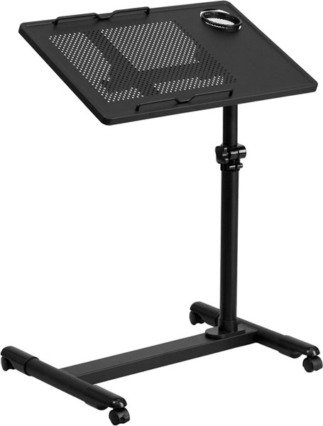 Adjustable Height Steel Mobile Computer Desks FLF-NAN-JG-06B-GG-ODSK-VAR