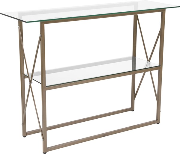 Flash Furniture Mar Vista Gold Glass Console Table FLF-NAN-JH-1796ST-GG