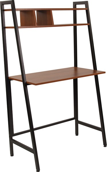 Flash Furniture Wilmette Cherry Desk with Shelves FLF-NAN-JN-21711-GG