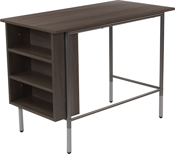Flash Furniture Hillside Light Applewood Desk with Shelves FLF-NAN-JN-21725-GG