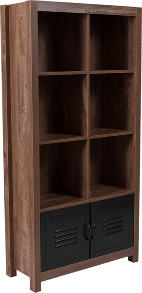Flash Furniture New Lancaster Crosscut Oak Storage Shelf FLF-NAN-JN-21736BF-GG