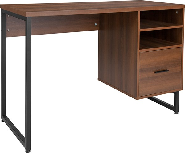 Flash Furniture Lincoln Rustic Pedestal Computer Desk FLF-NAN-JN-21743D-GG