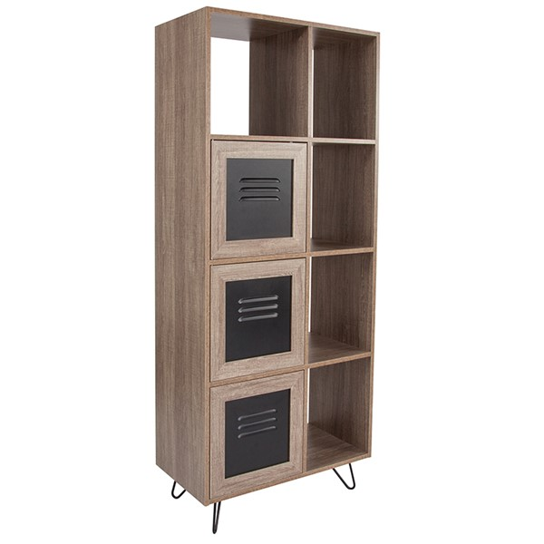 Flash Furniture Woodridge Rustic 63 Inch Bookshelf FLF-NAN-JN-21804B-GG