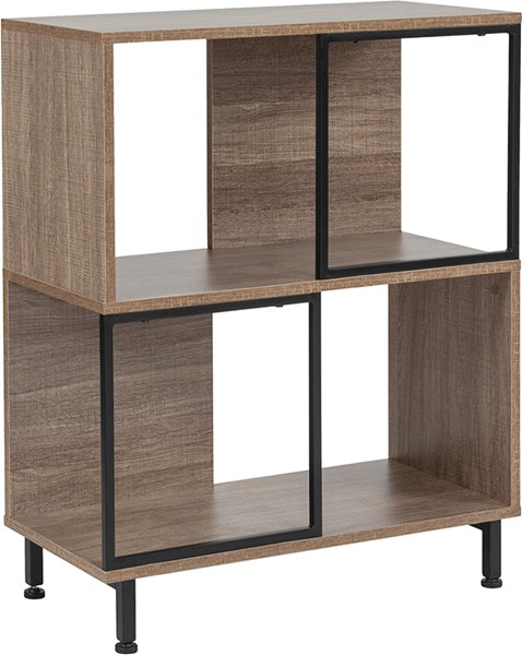 Flash Furniture Paterson Contemporary Rustic Bookshelf FLF-NAN-JN-21805B-1-GG