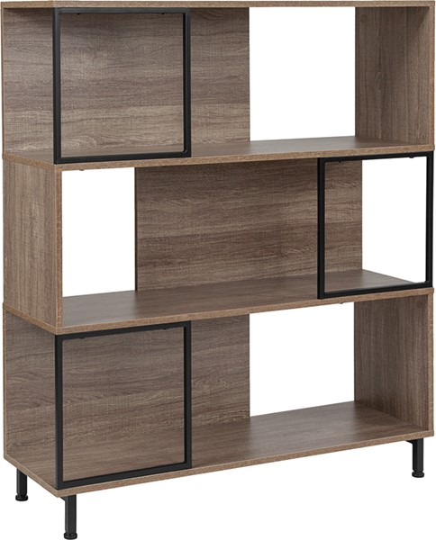 Flash Furniture Paterson Rustic Bookshelf FLF-NAN-JN-21805B-4-GG